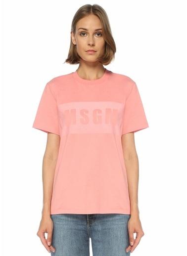 MSGM MSGM  Logo Baskılı T-shirt 101524413 Pembe
